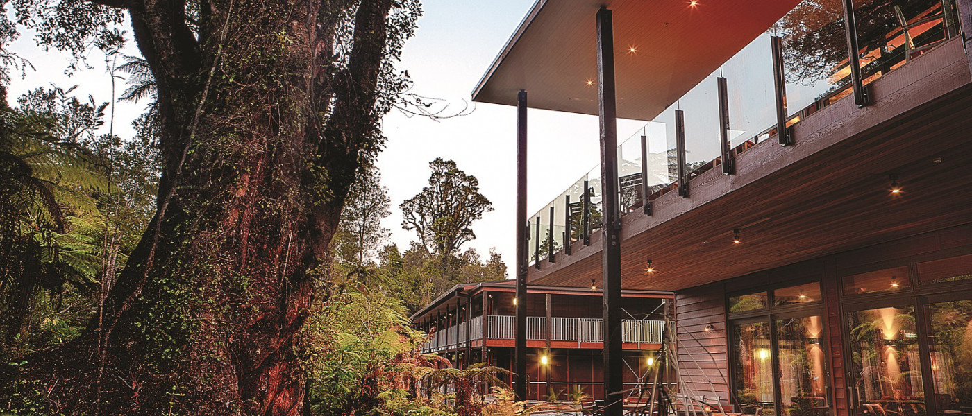Te Waonui Forest Retreat outside view