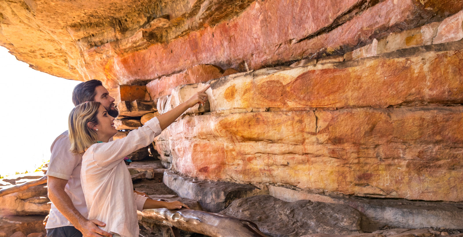 Ubirr Rock Art Couple A 01 edit
